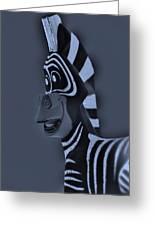 Bluegray Zebra Greeting Card