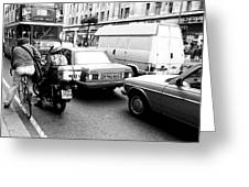 Cycle Bike Car Tempo And Bus Greeting Card