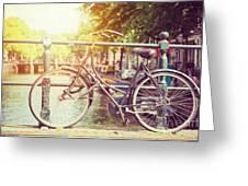 Cycle In Sun Greeting Card