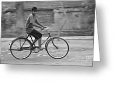 Cycling Boy Greeting Card