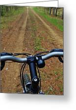Cycling In The Country Greeting Card