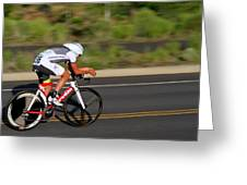 Cycling Time Trial Greeting Card