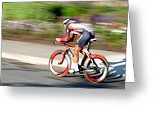 Cyclist Time Trial Greeting Card