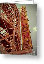 Cyclone Roller Coaster - Coney Island Greeting Card