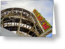 Cyclone Roller Coaster Greeting Card