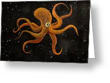 Cycloptopus Black Greeting Card