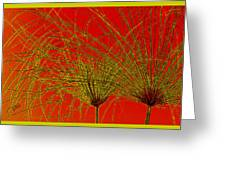 Cyperus Papyrus Abstract Greeting Card