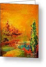 Cypress Gold Greeting Card