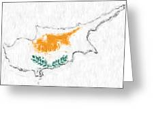 Cyprus Painted Flag Map Greeting Card