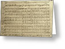 Czech Republic Prague Symphony No. 38 In D Major Called Prague Symphony Greeting Card