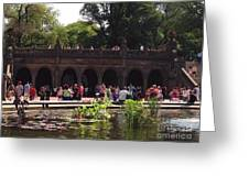 The Arches And The Fountain Greeting Card