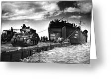 D-day Landings Harbour Greeting Card