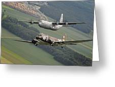 D Day Past And Present Greeting Card