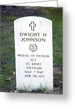 D. H. Johnson - Medal Of Honor Greeting Card