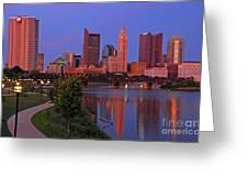 D2l38 Columbus Ohio Skyline Photo Greeting Card