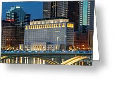 D2l496 Columbus Ohio Night Skyline  Greeting Card