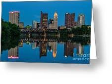 D2l64 Columbus Ohio Skyline Greeting Card