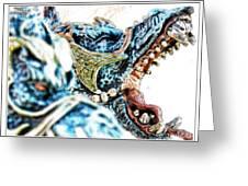 Da Dragon Comic IIacd Greeting Card