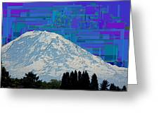 Da Mountain Cubed 1 Greeting Card