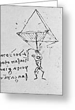 Da Vinci's Parachute Greeting Card