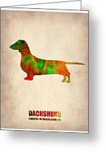 Dachshund Poster 2 Greeting Card by Naxart Studio