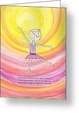 Daddy's Perfect Dancer Greeting Card