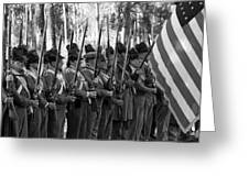 American Soldiers At Muster 1835 Greeting Card
