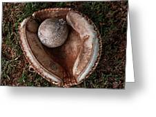 Dad's Old Ball And Glove Greeting Card