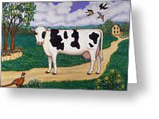 Dad's Prize Milk Cow Greeting Card