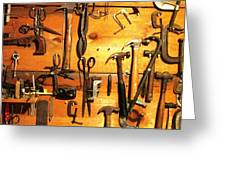Dads Tools 3 Greeting Card by Will Boutin Photos