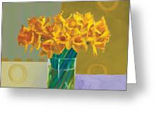 Daffodil Bronze Greeting Card