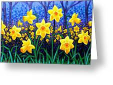 Daffodil Dance Greeting Card