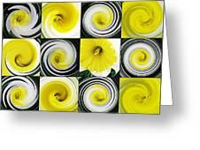 Daffodil Spring Mosaic Greeting Card