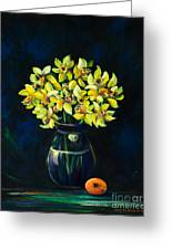 Daffodils And Fruit Greeting Card