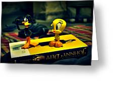 Daffy Tweety And Johnny Greeting Card