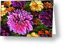 Dahlia Delight Greeting Card