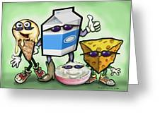 Dairy Food Group Greeting Card