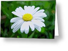 Daisey Flower - Looks Like A Painting Greeting Card