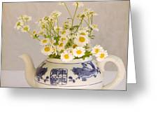 Daisies In A Teapot Greeting Card