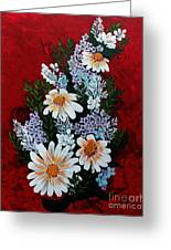 Daisies Lilacs And Forget Me Nots Greeting Card