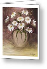 Daisy Delight Greeting Card by Nancy Edwards