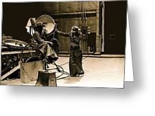Dakota Homage #1 1945 Cowboy Extras Sound Stage Old Tucson Arizona Greeting Card