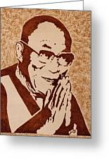 Dalai Lama Original Coffee Painting Greeting Card