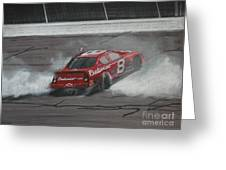Dale Earnhardt Junior Victory Burnout Greeting Card