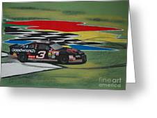 Dale Earnhardt Wins Daytona 500-infield Doughnuts Greeting Card