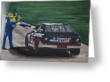 Dale Earnhardt Wins Daytona 500-pit Road Hand Shake Greeting Card