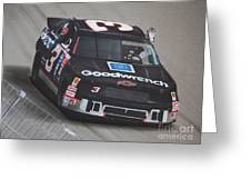Dale Earnhardt Wins-wave To The Crowd Greeting Card