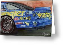 Dale Earnhardt's 1987 Chevrolet Monte Carlo Aerocoupe No. 3 Wrangler  Greeting Card
