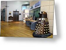 Dalek At The Bbc Greeting Card