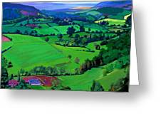 Dales Patchwork Greeting Card by Neil McBride
